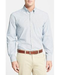 Cutter & Buck 'Epic' Classic Fit Easy Care Stripe Sport Shirt - Lyst