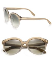 Tom Ford   Round 54mm Acetate Sunglasses   Lyst