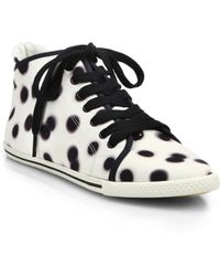 Marc By Marc Jacobs Dot-Print High-Top Sneakers - Lyst