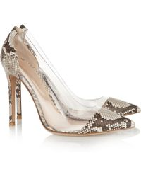Gianvito Rossi Python and Pvc Pumps - Lyst