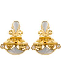 Kastur Jewels - Heritage Simple Mother Of Pearl Earrings - Lyst
