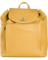 Vivienne Westwood Yellow Rectangular Backpack - Lyst