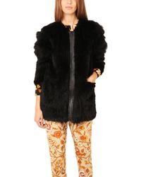 Elizabeth And James Tarra Fur Coat - Lyst