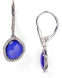Nadri - Sterling Silver & Tanzanite Small Drop Earrings - Bloomingdale'S Exclusive - Lyst