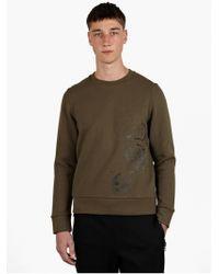Christopher Raeburn Mens Olive Graphic Military Print Sweatshirt - Lyst