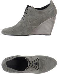 Balenciaga Gray Laceup Shoes - Lyst
