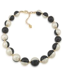 Carolee - Optical Opposites Bead Necklace - Lyst