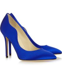 Brian Atwood Besame Satin Pumps - Lyst