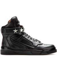 Givenchy Tyson Stars Leather Hightops - Lyst