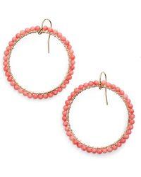 Ki-ele - 'lani' Front Hoop Earrings - Lyst