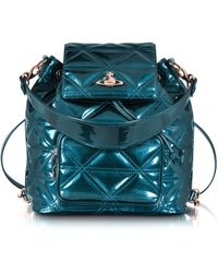 Vivienne Westwood - Sharlenemania Patent Green Backpack - Lyst