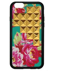 Wildflower - 'floral Gold Studded Pyramid' Iphone 5 & 5s Case - Lyst