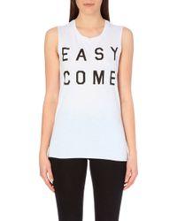 Zoe Karssen Easy Come Easy Go Jersey Top - Lyst