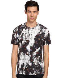 McQ by Alexander McQueen Patched Floral Dropped Shoulder Tee - Lyst