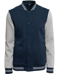 H&M Blue Baseball Jacket - Lyst
