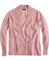 J.Crew Collection Cashmere Long Open Cardigan Sweater - Lyst