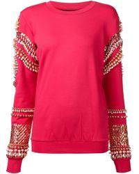 Manish Arora Embellished-Detail Jersey Sweatshirt - Lyst