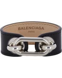 Balenciaga Black Leather Bracelet - Lyst
