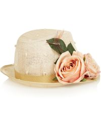 Piers Atkinson - Flower-Embellished Sinamay Trilby - Lyst