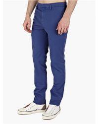Jil Sander Men'S Blue Cotton Trousers blue - Lyst
