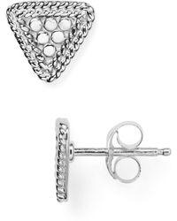 Anna Beck - Mini Triangle Stud Earrings - Lyst