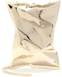 Anya Hindmarch Crisp Packet Metal Clutch - Lyst