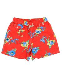 Ralph Lauren Blue Label Red Floral Pattern Swimsuit red - Lyst