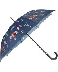 Mary Katrantzou Umbrella Symbol Navy - Lyst