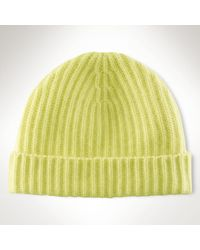 Polo Ralph Lauren Rib-knit Cashmere Hat - Lyst
