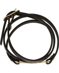 McQ by Alexander McQueen Black And Gold Triple Wrap Razor Blade Bracelet - Lyst