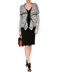 Donna Karan New York Cotton Blend Fringed Jacket - Lyst