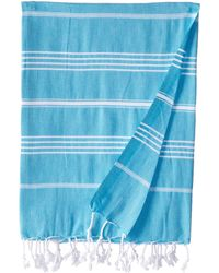 Hat Attack Blue Beach Throw - Lyst