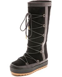 United Nude Polar Lace Up Boots  Black - Lyst