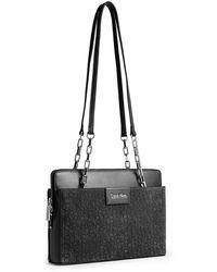 Calvin Klein White Label Brynn Double Strap Chain Date Bag - Lyst