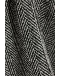 Burberry Brit - Herringbone Wool-Tweed Mini Skirt - Lyst