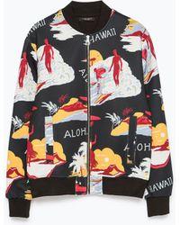 Zara Hawaiian Print Jacket multicolor - Lyst