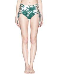 Mara Hoffman 'Harvest' Reversible Lace Up High Waist Bikini Bottoms - Lyst