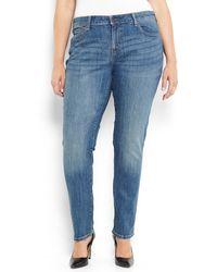 Levi's Plus Size Medium Wash Mid Rise Skinny Jeans - Lyst