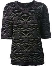Theyskens' Theory Camouflage Print Top - Lyst
