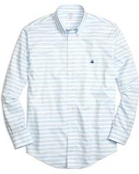 Brooks Brothers Non-iron Slim Fit Horizontal Stripe Sport Shirt - Lyst