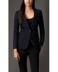 Burberry Tailored Wool Mohair Jacket - Lyst