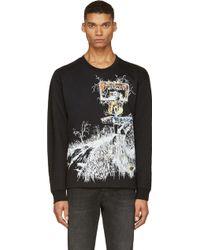 McQ by Alexander McQueen Black Freeway Print Sweatshirt - Lyst