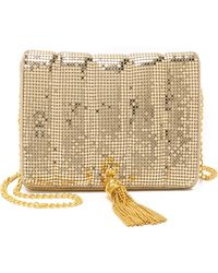 Whiting & Davis | Quilted Tassel Bag - Gold | Lyst