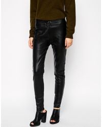 Just Female - Spang Leather Pants - Lyst