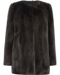 Pied a Terre   Bree Faux Fur Coat   Lyst