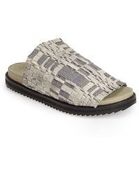 Free People 'Idle Wild' Woven Leather Slide Sandal - Lyst