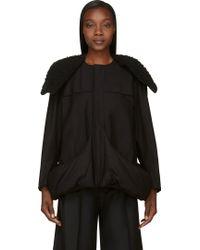 Yohji Yamamoto Black Insulated Pocket Coat - Lyst
