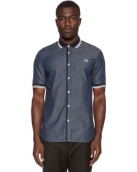 Fred Perry Twin Tipped Chambray Shirt - Lyst