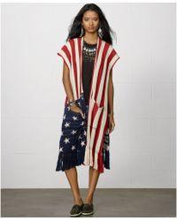 Denim & Supply Ralph Lauren - Oversize Fringed Americanflag Cardigan - Lyst