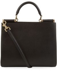 Dolce & Gabbana Medium Sicily Shopping Tote - Lyst